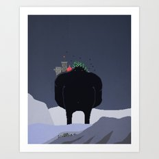 Mountain Giant Art Print