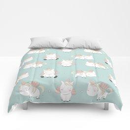 Pegacorn - Mint Green Comforters
