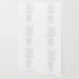 One Line Pineapple Wallpaper
