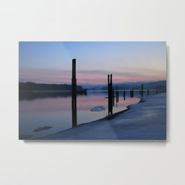 Sunset on the ice Metal Print
