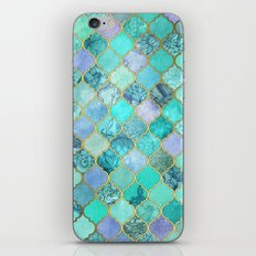 Cool Jade & Icy Mint Decorative Moroccan Tile Pattern iPhone & iPod Skin