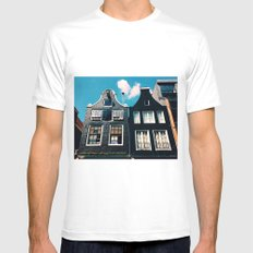 oh those houses ^_^  White MEDIUM Mens Fitted Tee