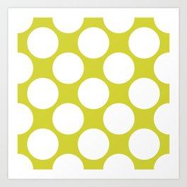 Polka Dots Green Art Print