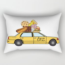 The Eats By Lex Cab Rectangular Pillow