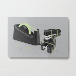 Tape is stronger Metal Print