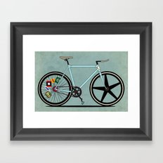 Fixie Bike Framed Art Print