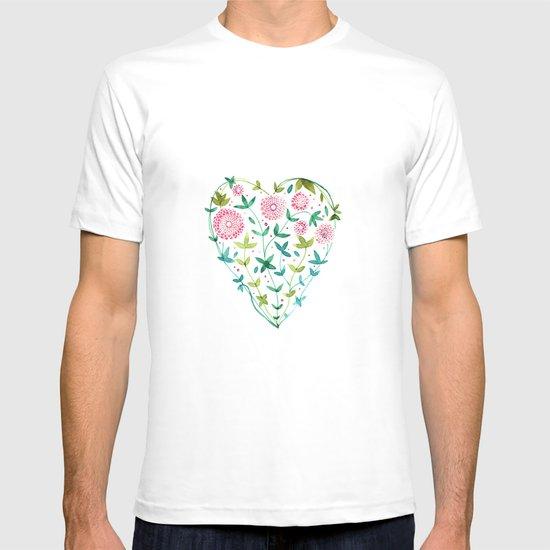 garden heart T-shirt