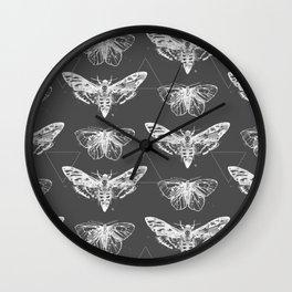 Geometric Moths inverted Wall Clock