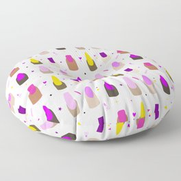 Nail Goals (White) Floor Pillow