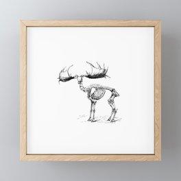 Skeleton of a Monster Elk Deer Illustration Framed Mini Art Print