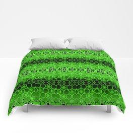 Retro India Lounge Pattern (apple green) Comforters