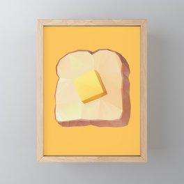 Toast with Butter polygon art Framed Mini Art Print