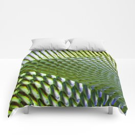 Shiny Green Dimple Abstract Comforters