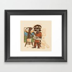 Happy Little Groots Framed Art Print
