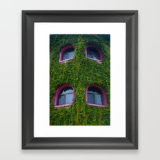 Pink and Ivy Framed Art Print