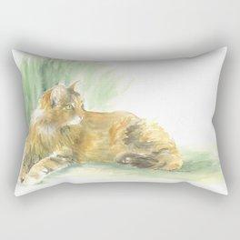 tabby cat - queen of all she surveys Rectangular Pillow