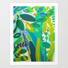 Between the branches. I Art Print