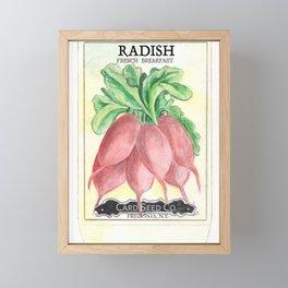 Radish Seed Packet Framed Mini Art Print