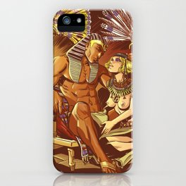 Dreaming with the pharaoh iPhone Case