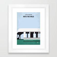 No677 My Into the Wild minimal movie poster Framed Art Print