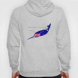 Australian Flag - Narwhal Hoody
