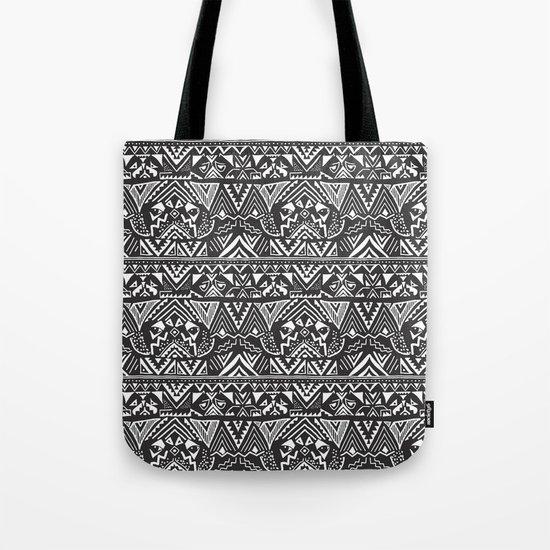 Pug  Tribal Tote Bag