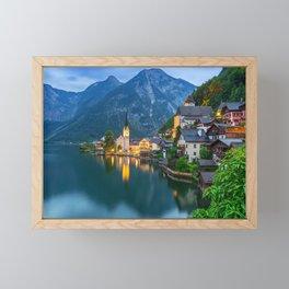 Hallstatt Village, Alps Framed Mini Art Print