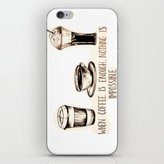 Coffee empowerment  iPhone & iPod Skin