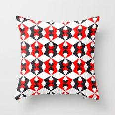 Red hexagon pattern Throw Pillow
