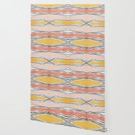 Modern irregular Stripes 01 Wallpaper