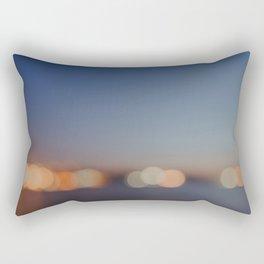 Circles of Light Rectangular Pillow