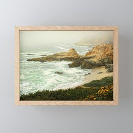 fog rolling in Framed Mini Art Print