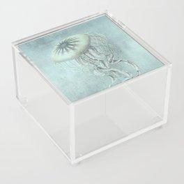 Jellyfish Underwater Aqua Turquoise Art Acrylic Box