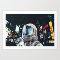 Art Prints featuring Night Life by Seamless