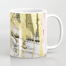 Armor [11]: a bold, elegant abstract mixed media piece in gold pink black and white Coffee Mug
