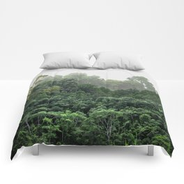Tropical Foggy Forest Comforters