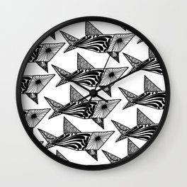 Shark Pattern Wall Clock