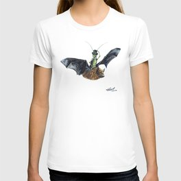 """ Rider in the Night "" happy cricket rides his pet bat T-shirt"