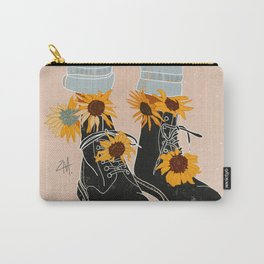 Flower Boots Carry-All Pouch