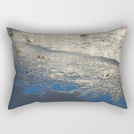 The frozen canal Rectangular Pillow