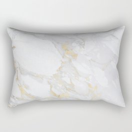 Marble with Gold Rectangular Pillow