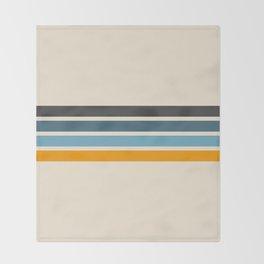 Vintage Retro Stripes Throw Blanket