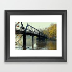 The Old 57th Street Bridge Framed Art Print