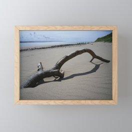 DRIFTWOOD ON BEACH NEAR CROW POINT NORTH DEVON Framed Mini Art Print