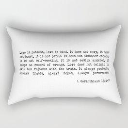 Love is Patient, Love is Kind Rectangular Pillow