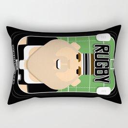 Rugby Black - Ruck Scrumpacker - Bob version Rectangular Pillow