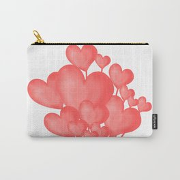 Valentine's day background with heart balloons with ribbon. Carry-All Pouch