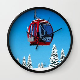 Aspen Colorado Ski Resort Cable Car Wall Clock