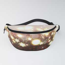 Stars Can't Shine Without Darkness sparkly lights stardust and fireworks art Fanny Pack