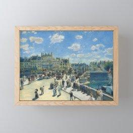 Pont Neuf Paris Painting by Auguste Renoir Framed Mini Art Print